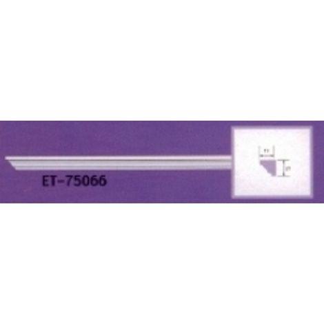 Moulure de corniche blanche en polyuréthane extrudé de 2,40 m - Décoration intérieure (ET-75066)