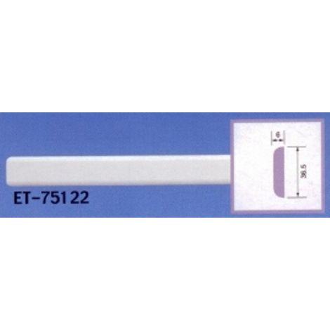Moulure de corniche blanche en polyuréthane extrudé de 2,40 m - Décoration intérieure (ET-75122)