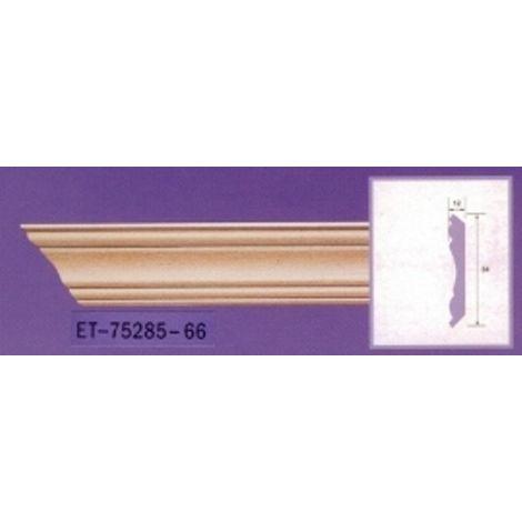 Moulure de corniche blanche en polyuréthane extrudé de 2,40 m - Décoration intérieure (ET-75285)