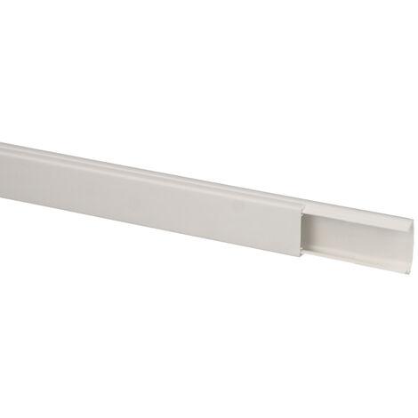 Moulure électrique PVC 20x10mm par carton de 96 mètres