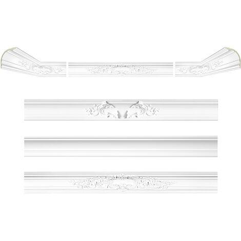 moulure en stuc | profil décoratif | lisse | antichoc | PU | 125x120mm | AB157 | 2 mètres