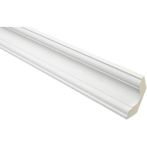 moulure en stuc | profil décoratif | lisse | antichoc | PU | 59x59mm | AB106 | 2 mètres