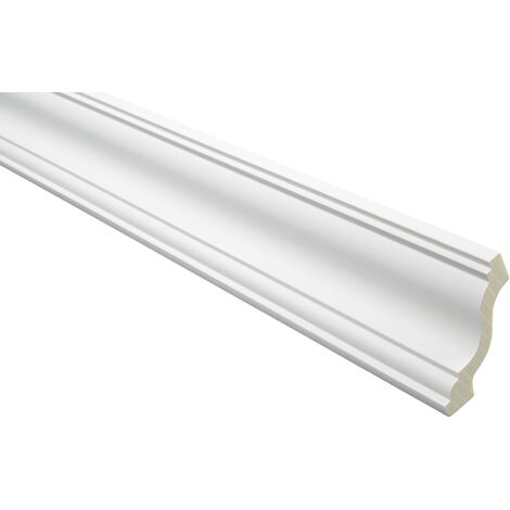 moulure en stuc | profil décoratif | lisse | antichoc | PU | 70x70mm | AB153 | 2 mètres