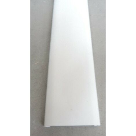 Moulure extra-plate 6x30mm pour point lumineux Blanc Paloma (au metre) HAGER ATA630009010