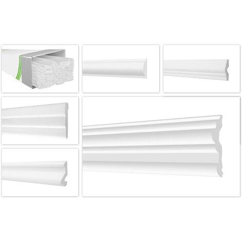 Moulure murale dures et lisses en polystyrène XPS en stuc HEXIMO Paquet gratuit
