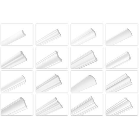 Moulures de plafond de 2 mètres moulures en polystyrène dur lisse lisse léger XPS stuc HEXIMO