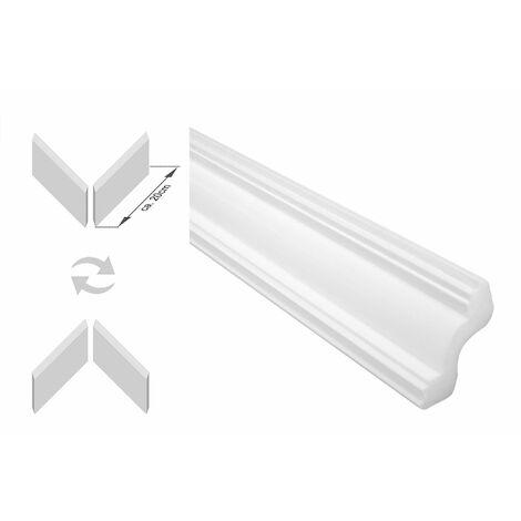 moulures en stuc avec coins | XPS | stable | Marbet | 45x45mm | E-40-NK