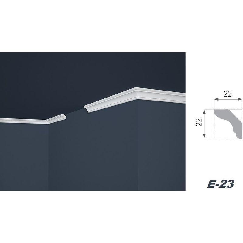 2 M/ètres Moulure en Stuc XPS Stable Marbet Divers Mod/èles E-Leisten E-1//22x22mm