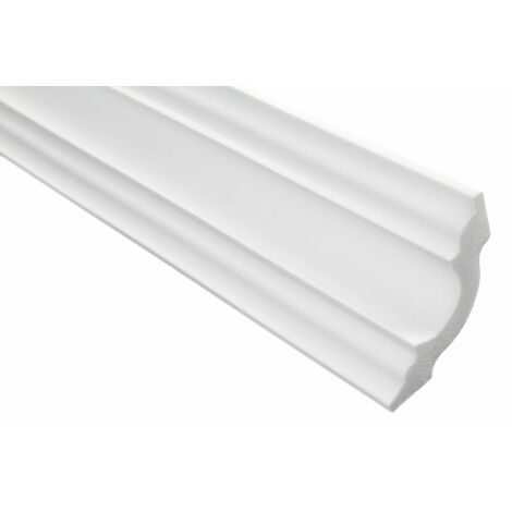 blanc 100 M/ètres Moulure en Stuc XPS Stable Marbet 65x65mm E-25 50 Plinthes