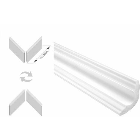 moulures en stuc, y compris les coins | XPS | stable | Marbet | 35x35mm | E-42-NK