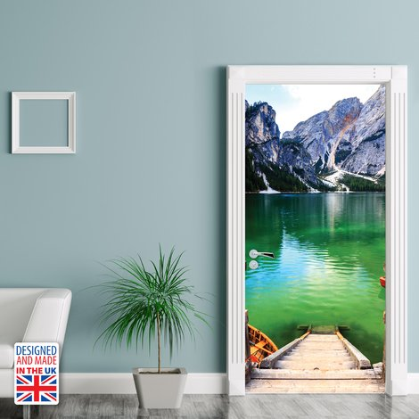Mountain Landscape Self-Adhesive Door Mural Sticker For All Europe Size 90Cm X 200Cm