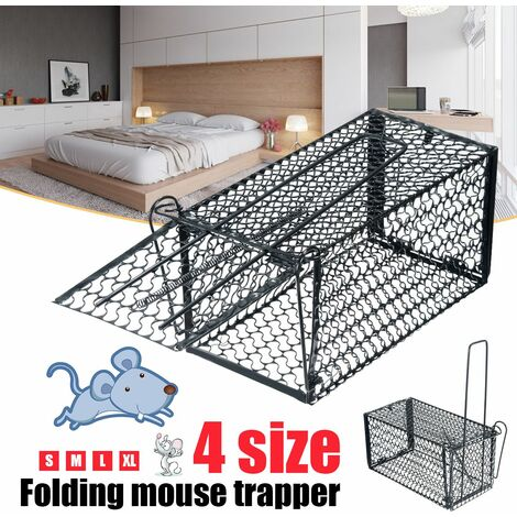 Mouse Live Cage Trap Pest Animal Rodent Hamster Mouse Rat Control Catch Bait (large)