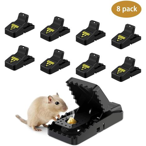 Mouse Traps, Reusable Mice Rat Trap (8 Pack) for Indoors and Outdoors,Rodent Trap Mouse Kill Quick Response, High Sensitive Mouse Catcher, Safe for Family and Pet,Easy to Set Mouse Control