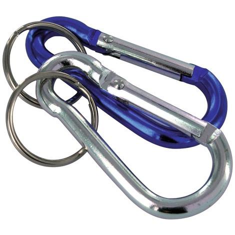 Mousqueton porte clefs PVM - Diamètre 6 mm - Vendu par 2