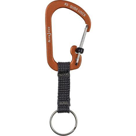 Mousqueton pour clé NITE Ize CSLAW3-19-R6 orange, noir 1 pc(s) X022211