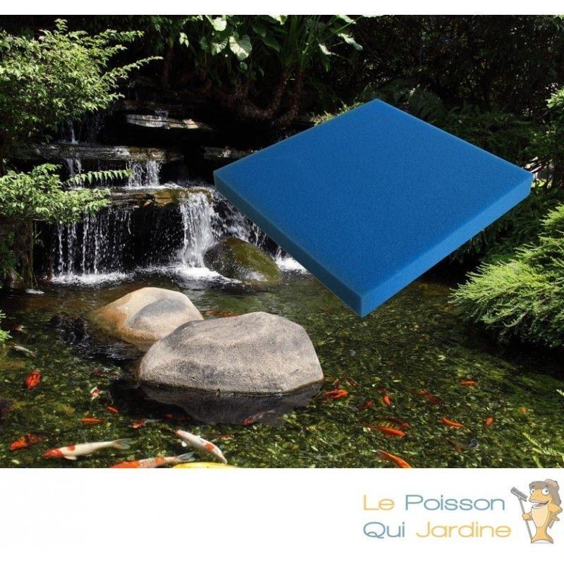 Mousse Bleue : 50 X 50 X 10 alvéolage moyen pour bassin et aquariums 20 ppi