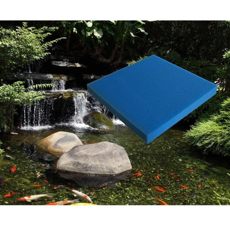 Mousse Bleue : 50 X 50 X 5 moyenne pour filtration bassin et aquariums 20 ppi