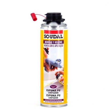 Mousse de polyuréthane nettoyante 500 ml Soudal