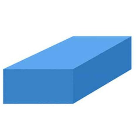 Mousse de protection 1x1m bleue non-adhésive épaisseur 30mm