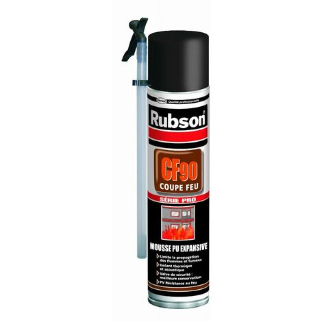 Mousse expansive CF90 coupe feu RUBSON - aérosol 600 ml - 161992