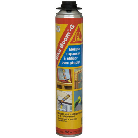 Mousse expansive extrudable au pistolet - SIKA Boom G - Beige - 750ml