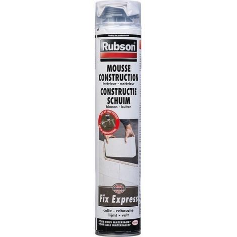 Mousse expansive Fix Express construction RUBSON - aérosol 750 ml - 1619486