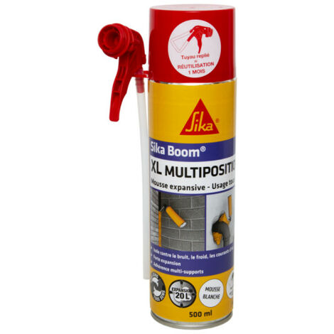 Mousse expansive polyuréthane Boom XL multiposition 500 ml SIKA