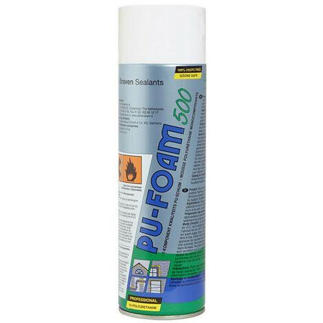 Mousse expansive polyuréthane PU-Foam 500 aérosol 500ml DEN BRAVEN