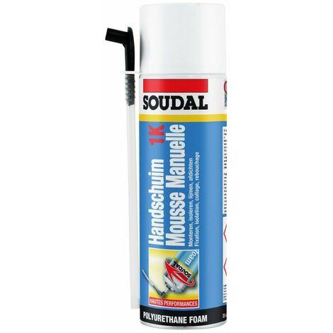 Mousse expansive polyuréthane SOUDAFOAM 1K Soudal 750 Ml