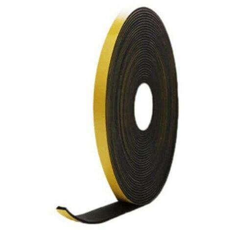 Mousse noire adhésive caoutchouc epdm 10x4mm longueur 10m