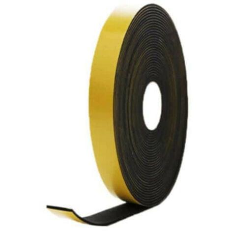 Mousse noire adhésive caoutchouc epdm 20x2mm longueur 10m