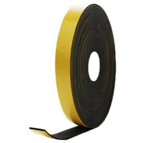 Mousse noire adhésive caoutchouc epdm 20x3mm longueur 10m