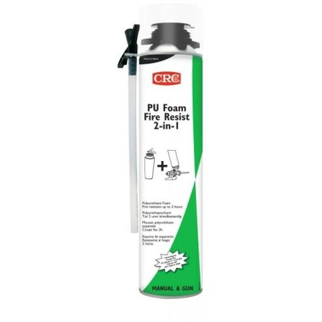 Mousse polyuréthane coupe feu 2 en 1 manuelle et pistolable, aérosol de 750 ml net