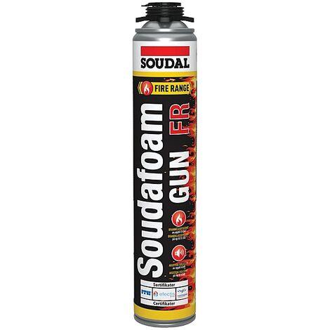Mousse polyuréthane coupe-feu Soudafoam pistolable 750 ml net