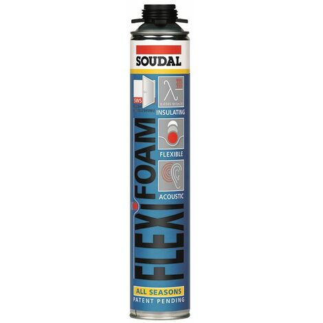 Mousse Polyuréthane Flexible FLEXIFOAM Vis 750 ml SOUDAL