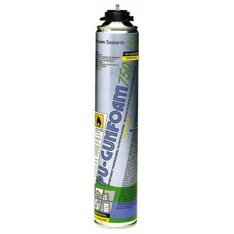 Mousse polyurethane gunfoam zw aerosol 750 ml pistolable