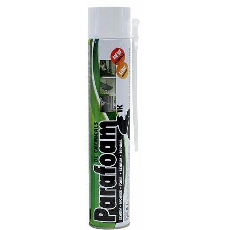 Mousse polyuréthane Parafoam 1K DL CHEMICALS - Tête en bas - 750 ml - 090001000