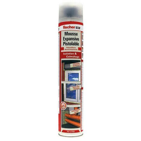 Mousse polyuréthane pistolable 750 ml