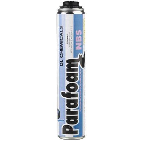Mousse polyuréthane pistolable DL CHEMICALS Parafoam NBS - Cartouche de 750 ml - Lot de 12 - 0900002N000049