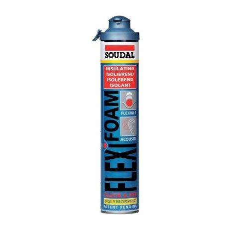Mousse PU pistolable, flexifoam Soudal