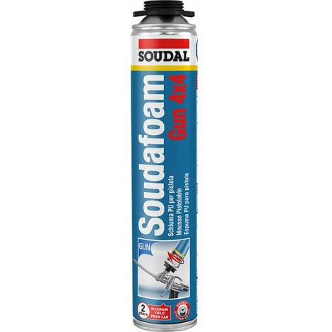 Mousse PU pistolable, soudafoam - Contenance (ml) : 750 - Soudal