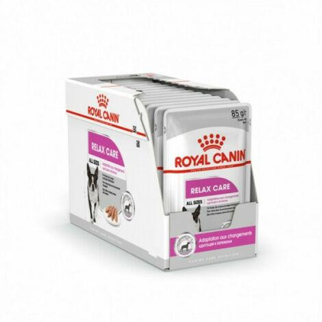 Mousse Royal Canin Relax Care pour chien - 12 sachets fraîcheur 85 g