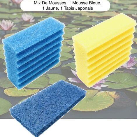 Mousses De Remplacement, 1 Mousse Jaune + 1 Bleue + 1 Tapis Japonais