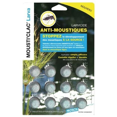 MOUSTICLAC - Tablettes effervescentes Mousti'clac larvicide - lot de 12