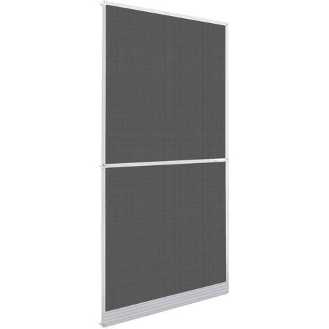 Moustiquaire à charnière pour portes Blanc 100 x 215 cm