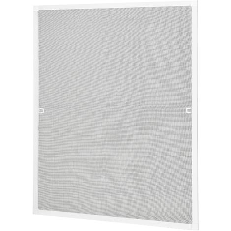 Moustiquaire avec cadre blanc - diff?rentes tailles - individuelle ?court? - protection des insectes - sans percage et vissage