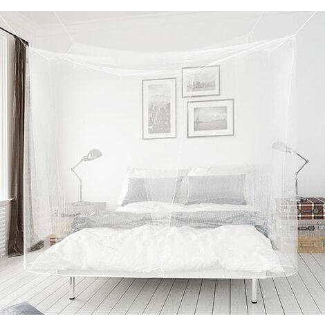 Moustiquaire baldaquin rectangulaire pour lit double universel