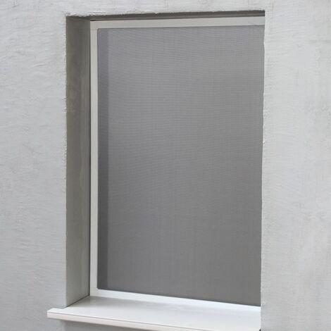 Moustiquaire Cadre Amovible Alu 100 cm x 100 cm Blanc - Blanc