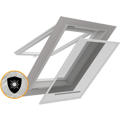 Moustiquaire Auto-Agrippante Fen/être de toit avec Tirette SCRATCH 140 x 170 cm Blanc