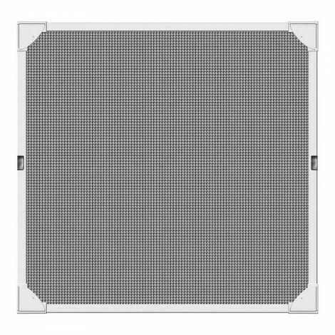 """main image of """"Moustiquaire cadre magnétique couleur blanc 120x120cm."""""""